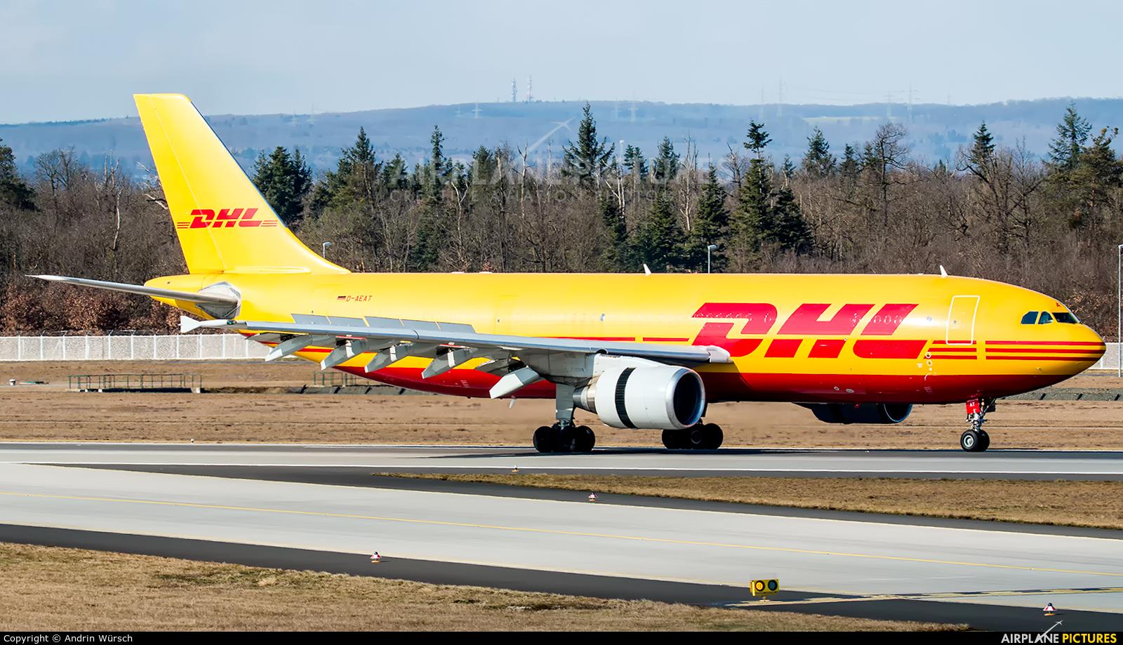 DHL Cargo D-AEAT aircraft at Frankfurt
