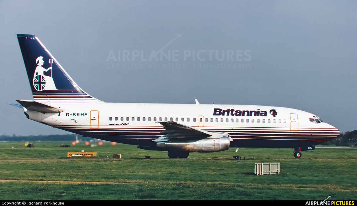 Britannia Airways G-BKHE aircraft at London - Gatwick