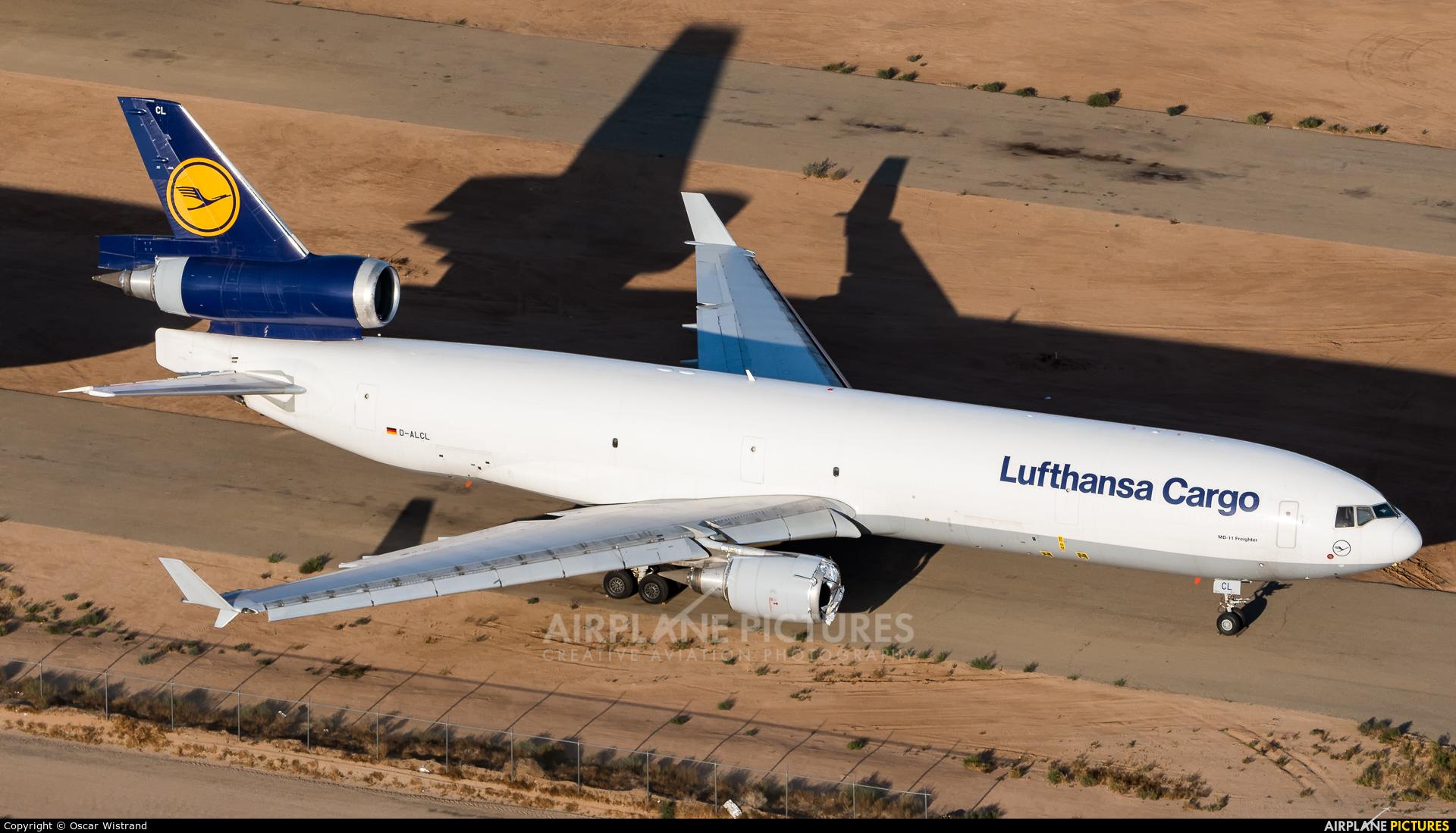 Lufthansa Cargo D-ALCL aircraft at Victorville - Southern California Logistics