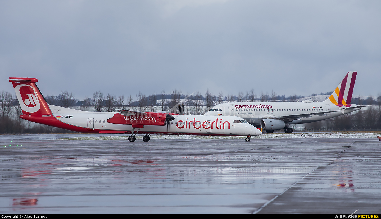 Air Berlin D-ABQM aircraft at Edinburgh