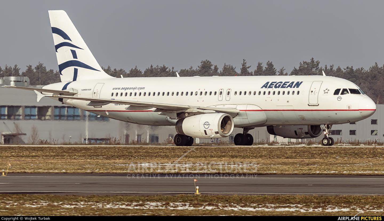 Aegean Airlines SX-DGC aircraft at Rzeszów-Jasionka