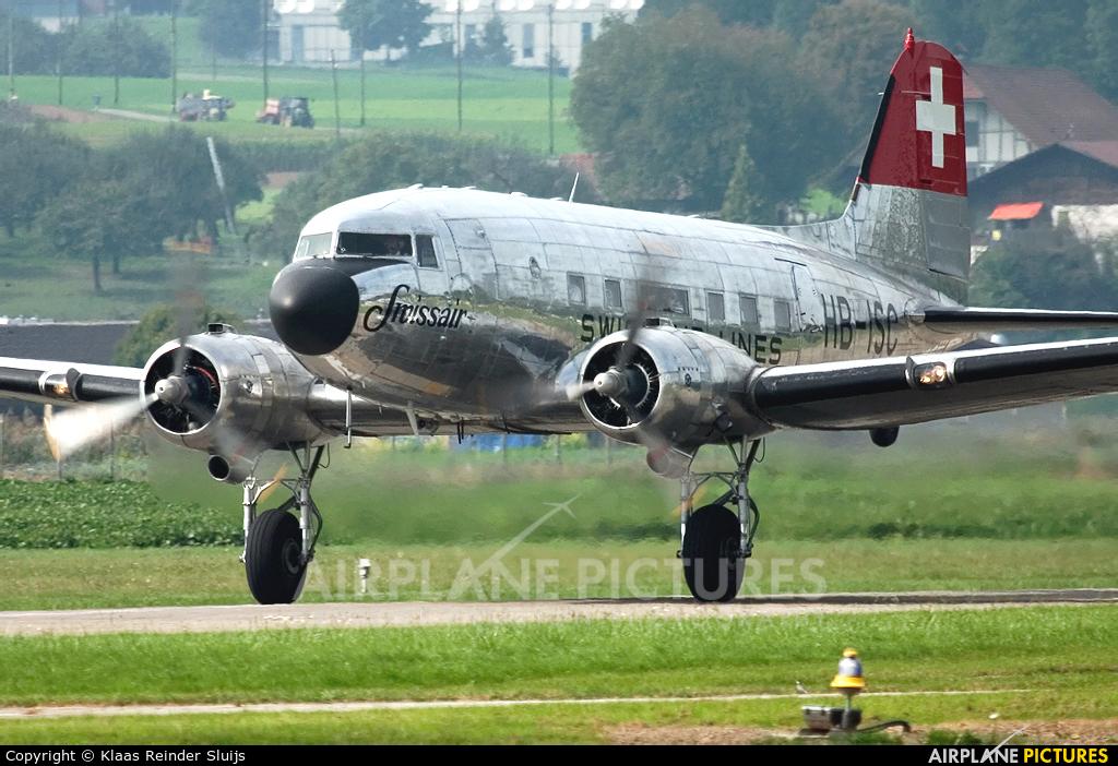 HB-ISC aircraft at Bern - Belp