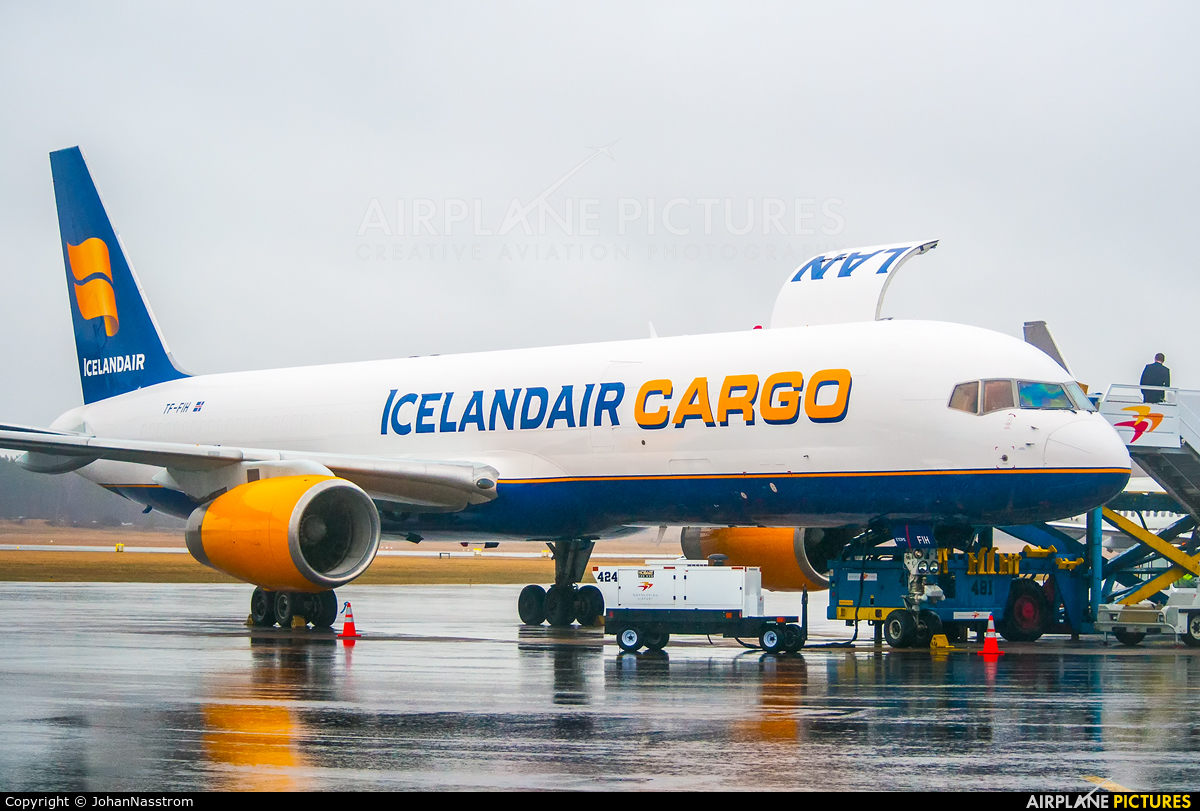 Icelandair Cargo TF-FIH aircraft at Norrköping - Kungsängen