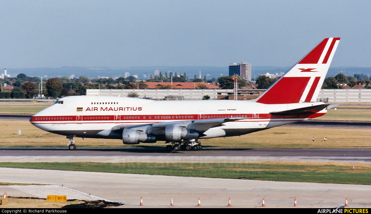 Air Mauritius 3B-NAJ aircraft at London - Heathrow