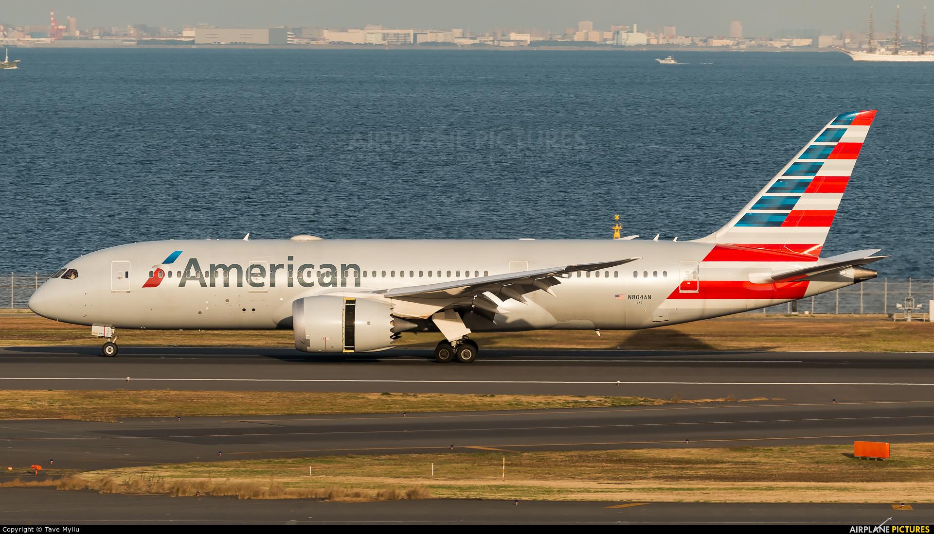 American Airlines N804AN aircraft at Tokyo - Haneda Intl