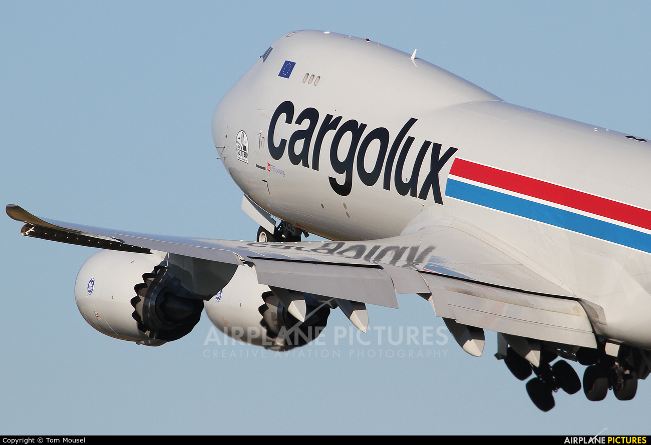 Cargolux LX-VCL aircraft at Luxembourg - Findel