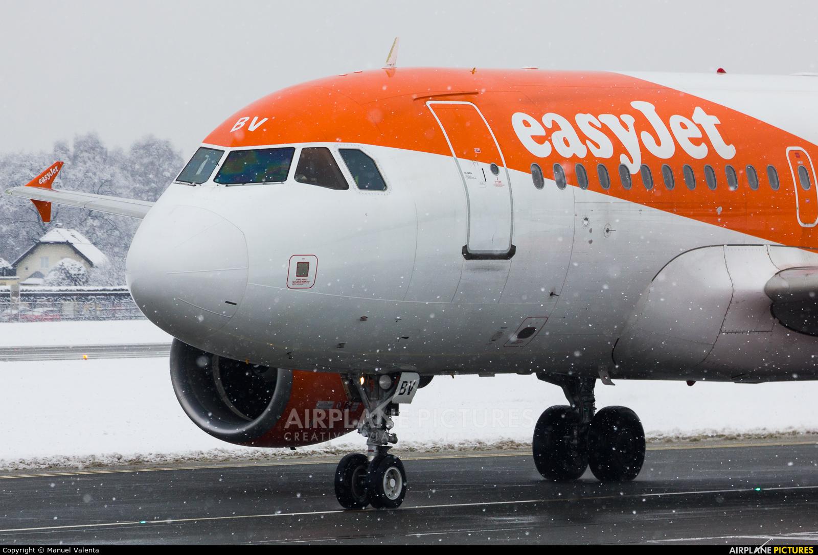 easyJet G-EZBV aircraft at Salzburg