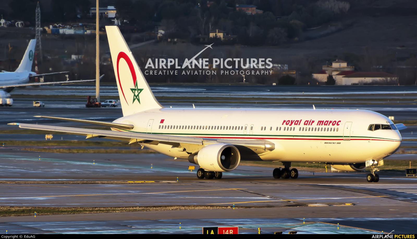 Royal Air Maroc CN-ROV aircraft at Madrid - Barajas