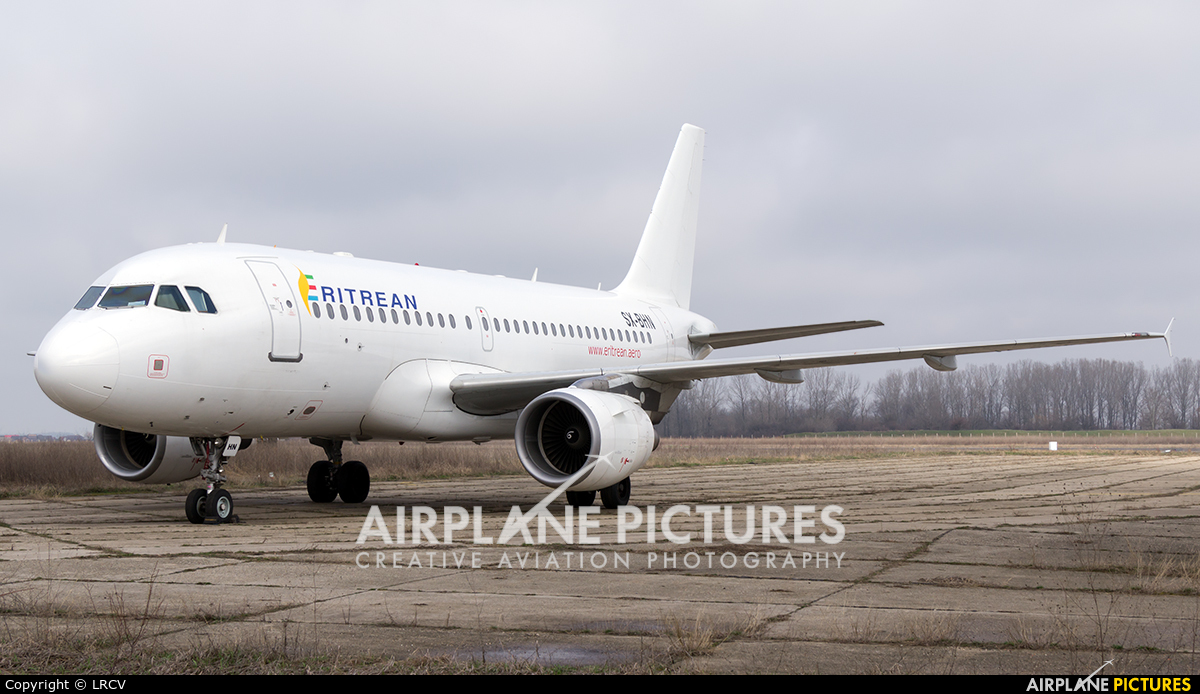 Eritrean Airlines SX-BHN aircraft at Craiova