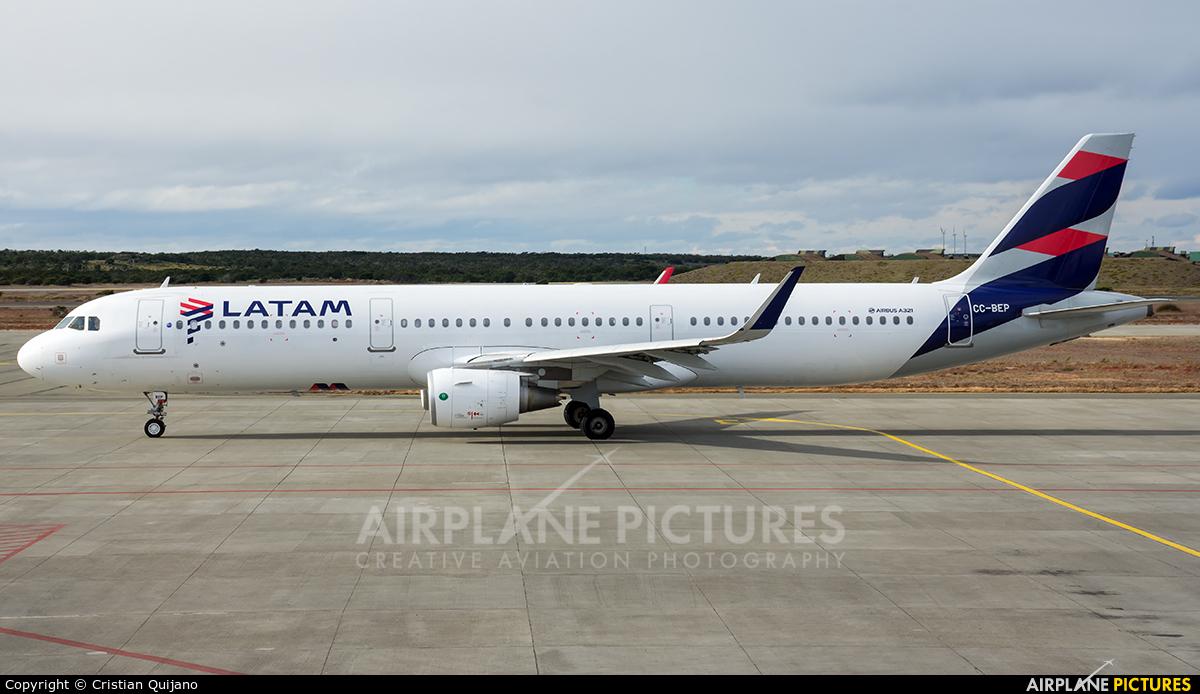 LATAM CC-BEP aircraft at Punta Arenas - Presidente C.I. Del Campo Intl