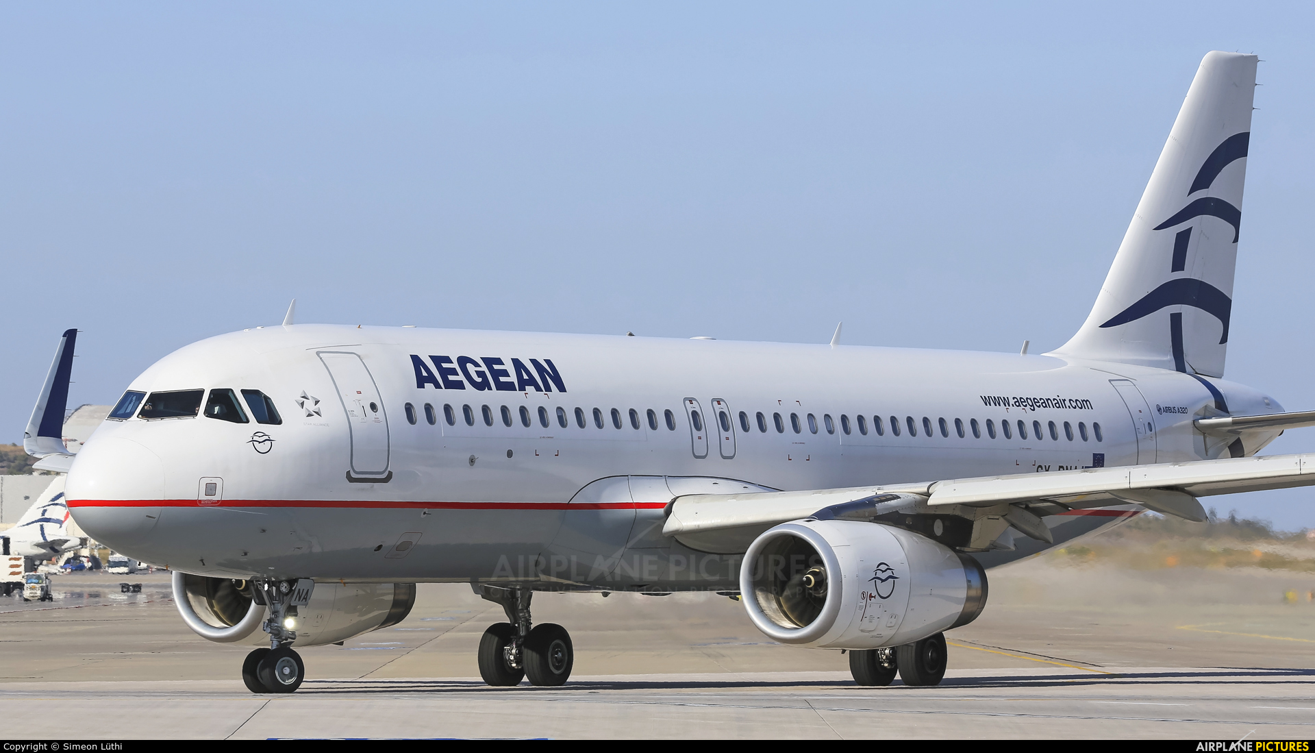 Aegean Airlines SX-DNA aircraft at Athens - Eleftherios Venizelos