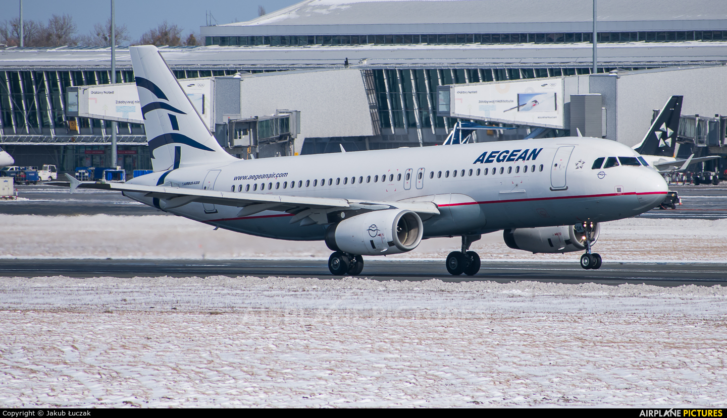 Aegean Airlines SX-DGK aircraft at Warsaw - Frederic Chopin