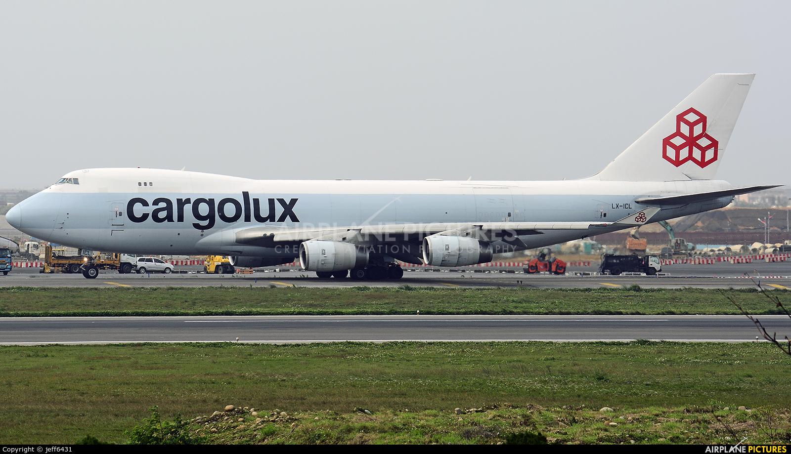 Cargolux LX-ICL aircraft at Taipei - Taoyuan