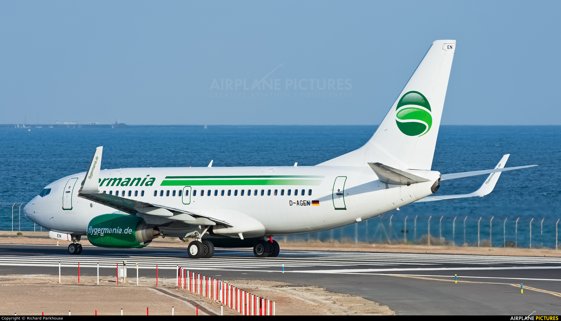 Germania D-AGEN aircraft at Lanzarote - Arrecife