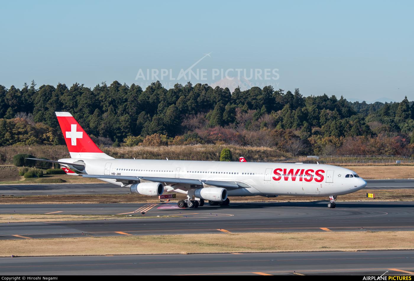 Swiss HB-JMI aircraft at Tokyo - Narita Intl