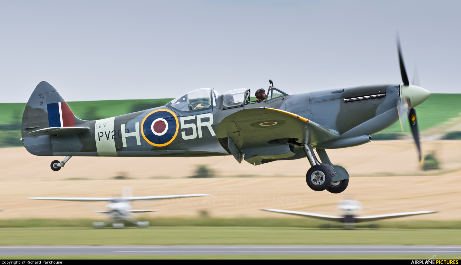 Historic Flying G-CCCA aircraft at Duxford