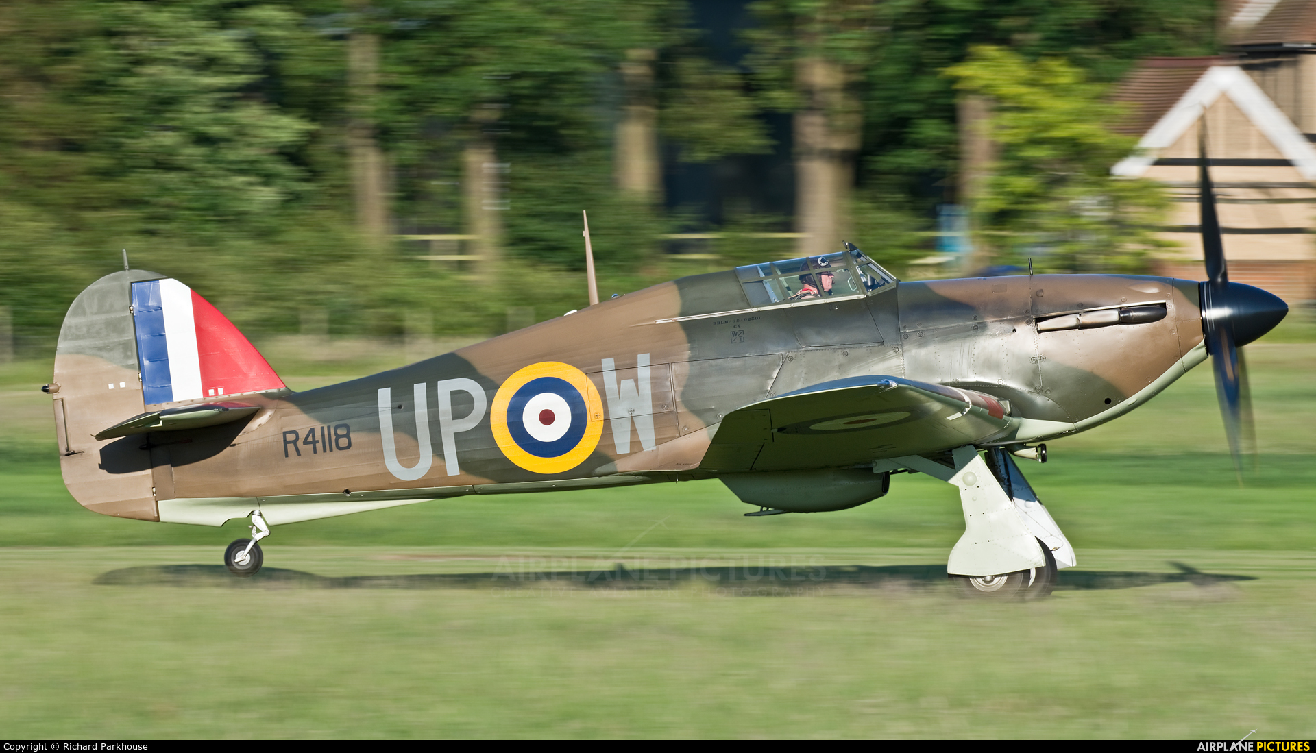 Private G-HUPW aircraft at Old Warden