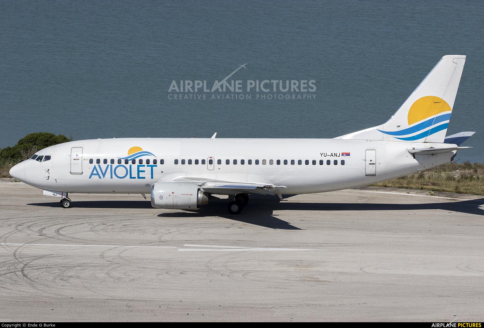 Aviolet YU-ANJ aircraft at Corfu - Ioannis Kapodistrias
