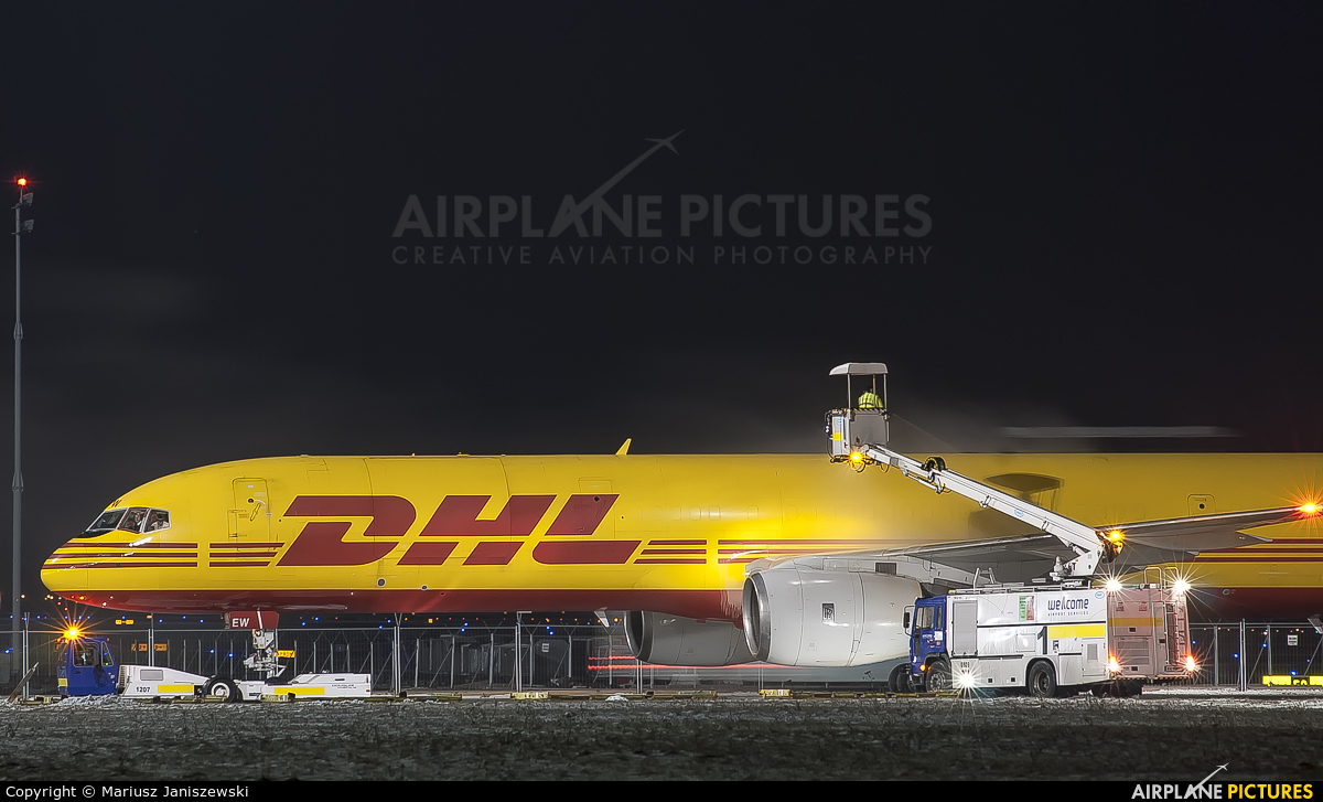DHL Cargo D-ALEW aircraft at Katowice - Pyrzowice
