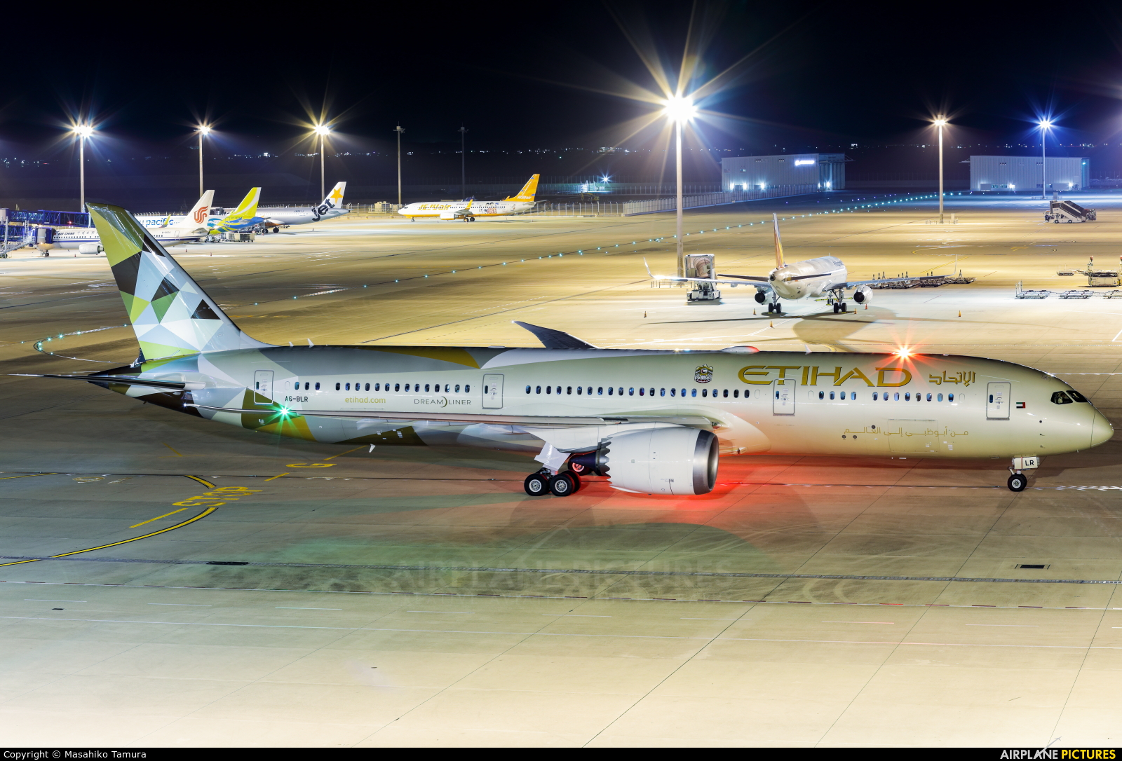 Etihad Airways A6-BLR aircraft at Chubu Centrair Intl