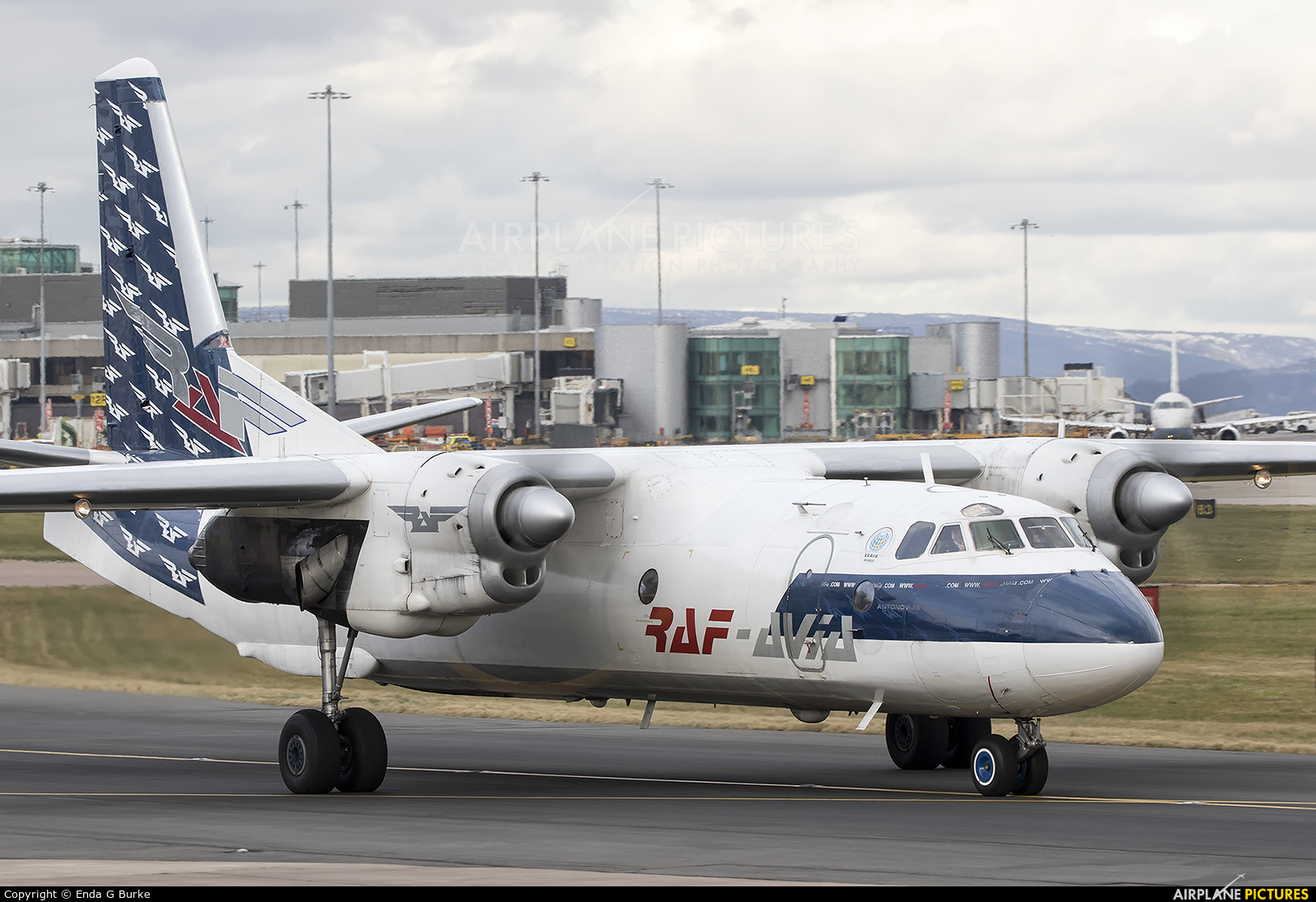 RAF Avia YL-RAD aircraft at Manchester