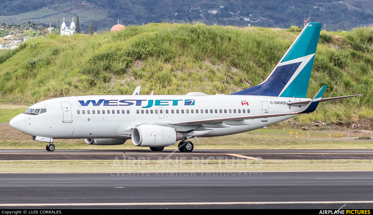 WestJet Airlines C-GRWS aircraft at San Jose - Juan Santamaría Intl