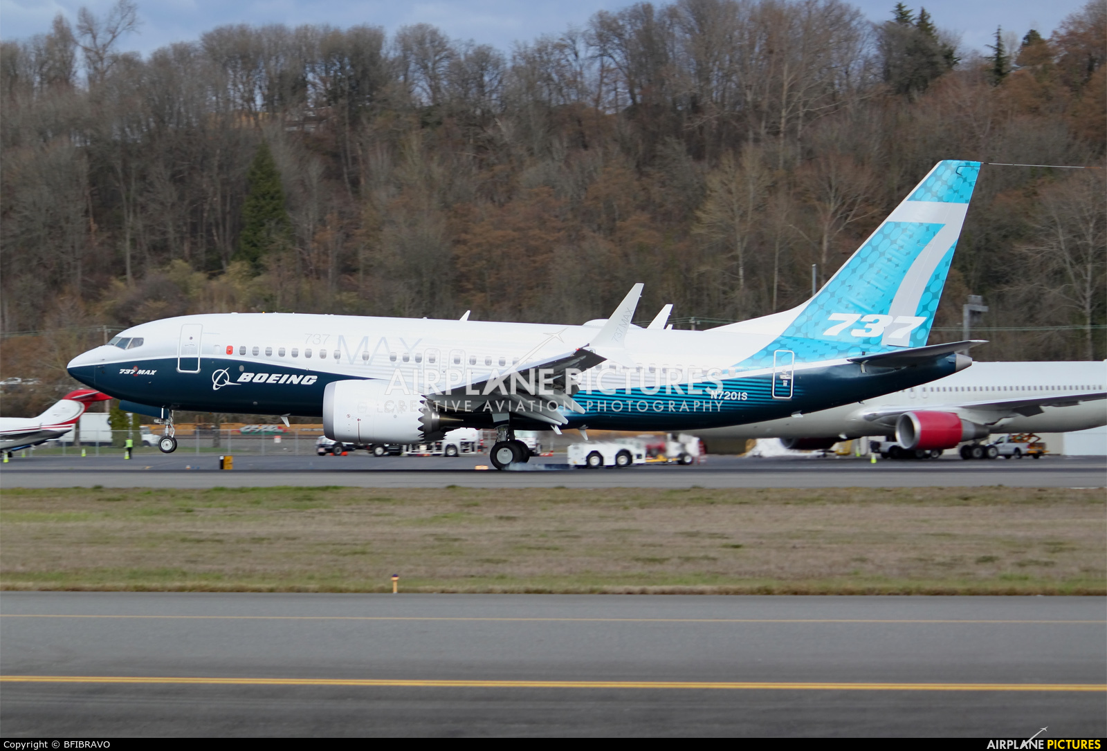 Boeing Company N7201S aircraft at Seattle - Boeing Field / King County Intl