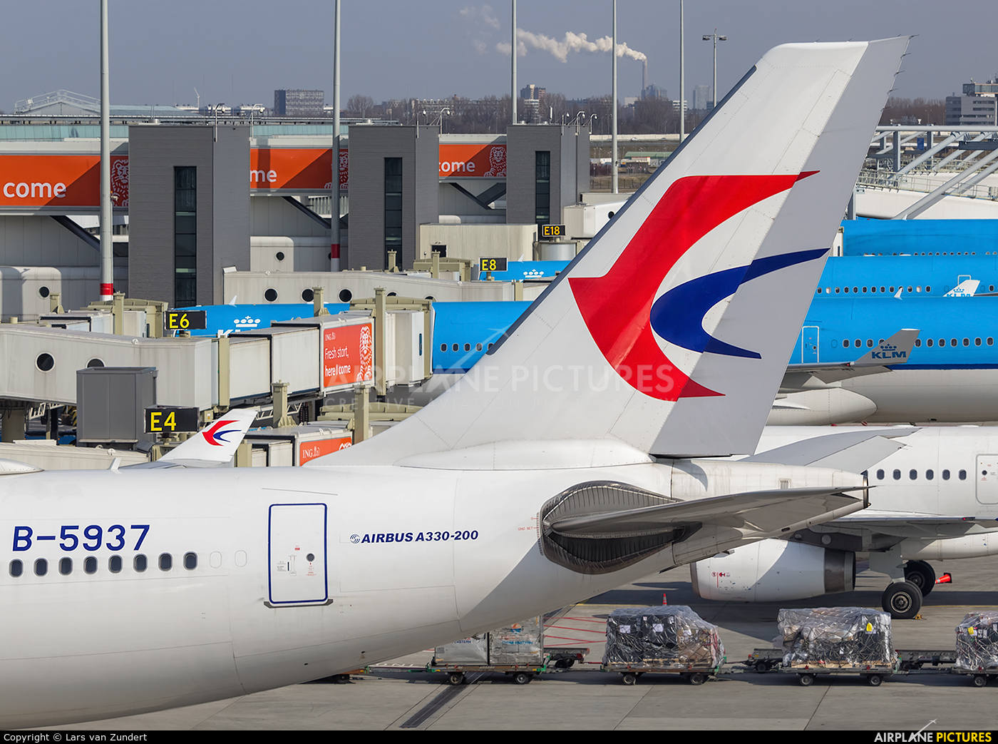 China Eastern Airlines B-5937 aircraft at Amsterdam - Schiphol