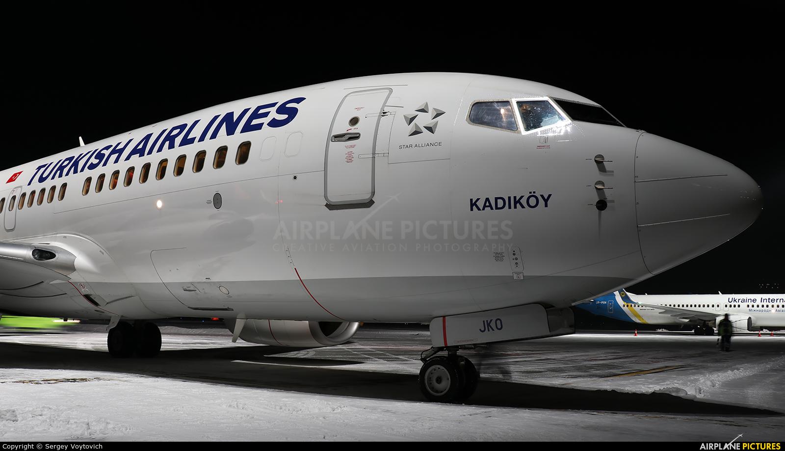 Turkish Airlines TC-JKO aircraft at Lviv Danylo Halytskyi International Airport (Lwów Skniłów)
