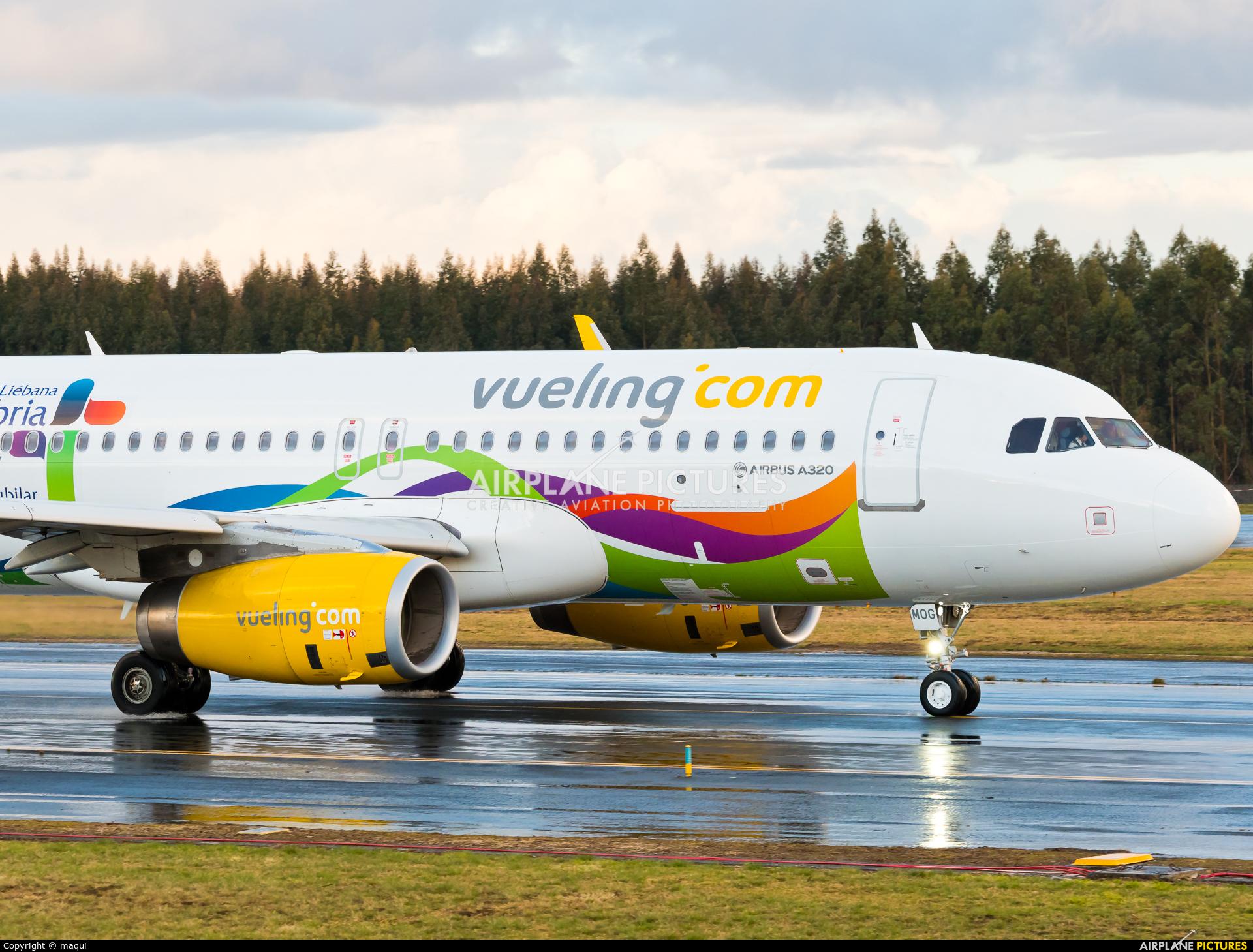 Vueling Airlines EC-MOG aircraft at Santiago de Compostela
