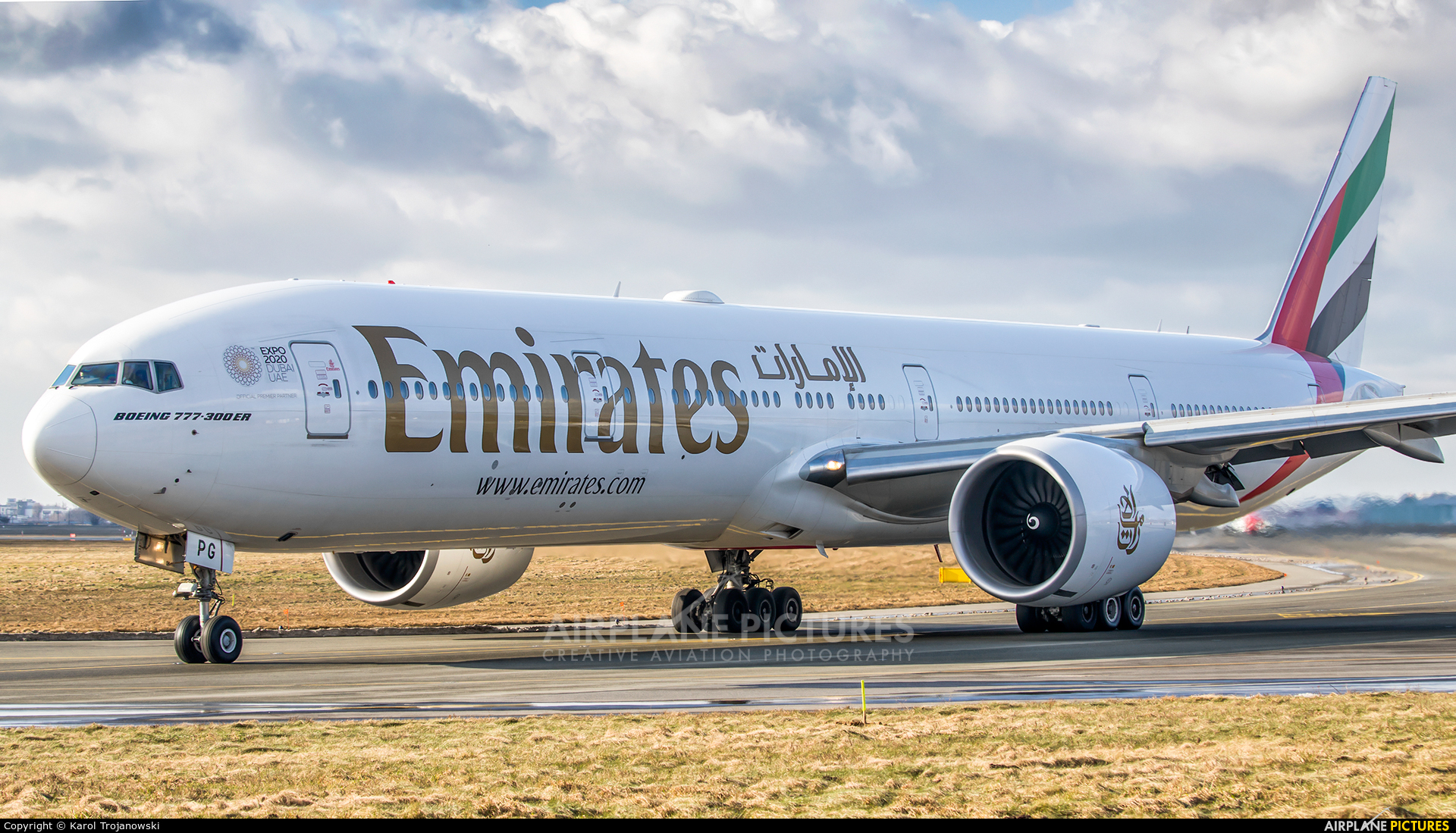 Emirates Airlines A6-EPG aircraft at Warsaw - Frederic Chopin