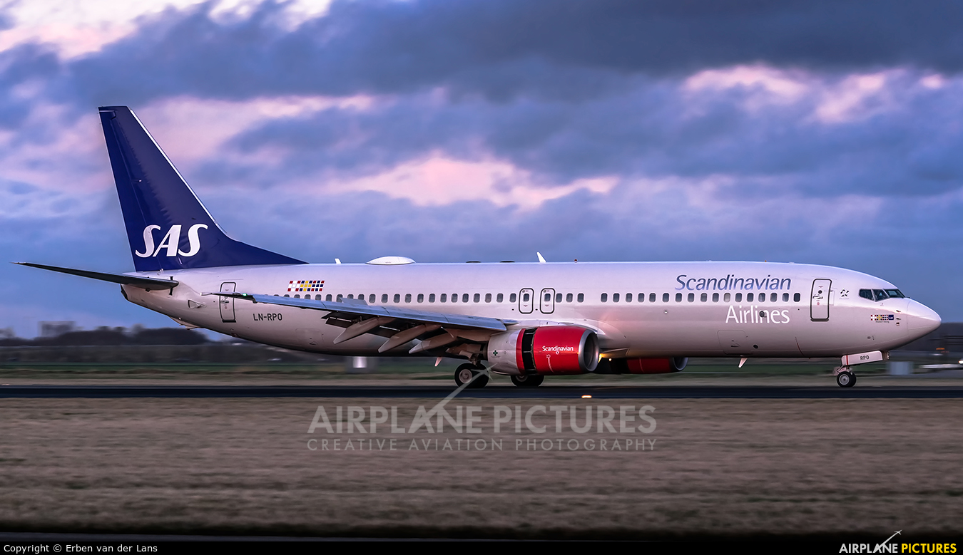 SAS - Scandinavian Airlines LN-RPO aircraft at Amsterdam - Schiphol