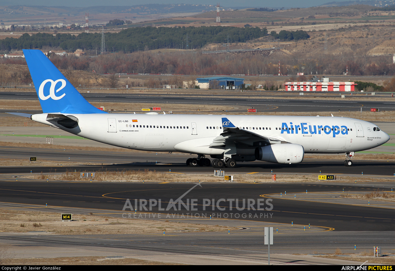 Air Europa EC-LQO aircraft at Madrid - Barajas