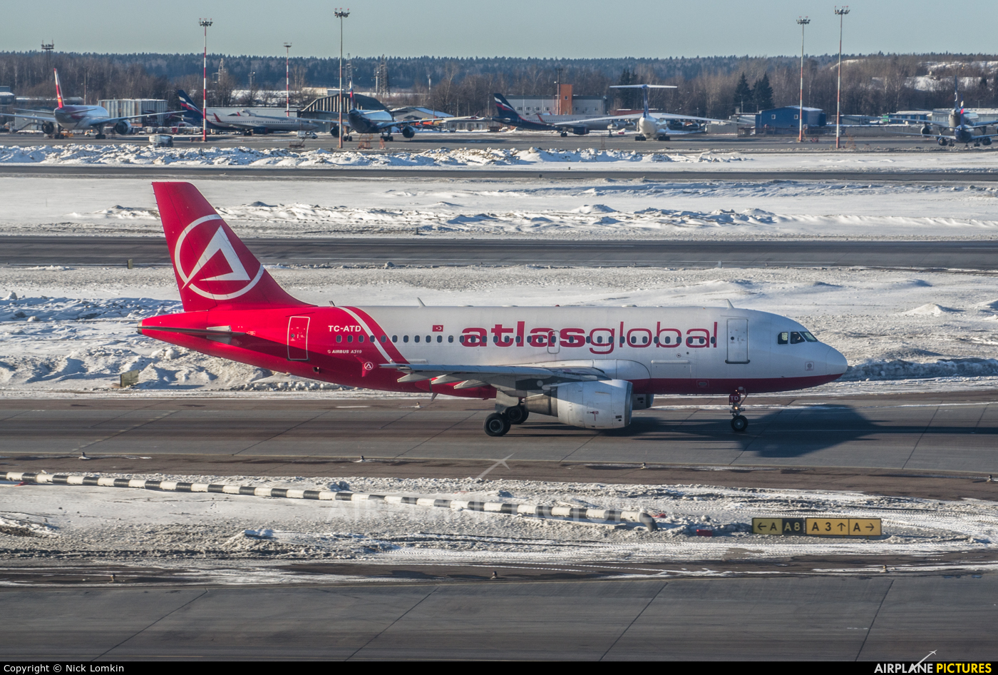 Atlasglobal TC-ATD aircraft at Moscow - Sheremetyevo