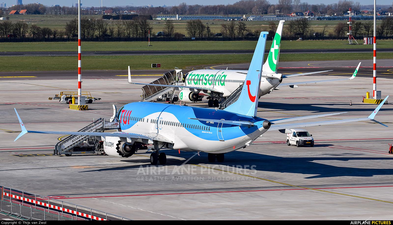 TUI Airlines Belgium OO-MAX aircraft at Rotterdam