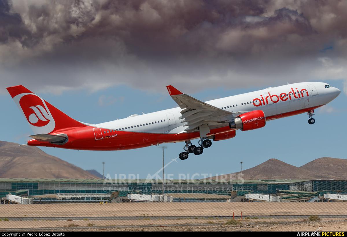 Air Berlin D-ALPD aircraft at Fuerteventura - Puerto del Rosario