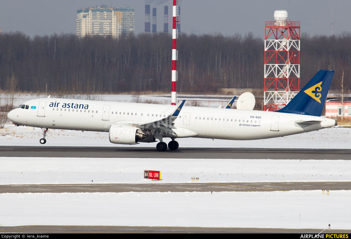 Air Astana P4-KDC aircraft at St. Petersburg - Pulkovo