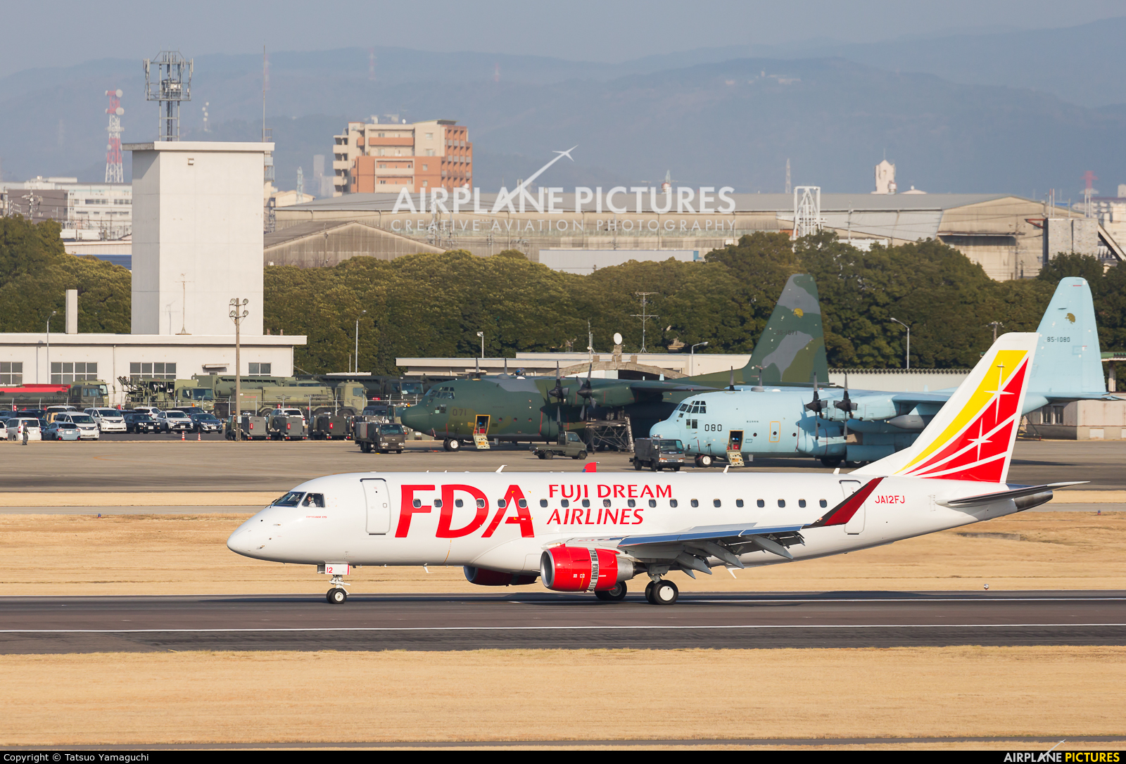 Fuji Dream Airlines JA12FJ aircraft at Nagoya - Komaki AB