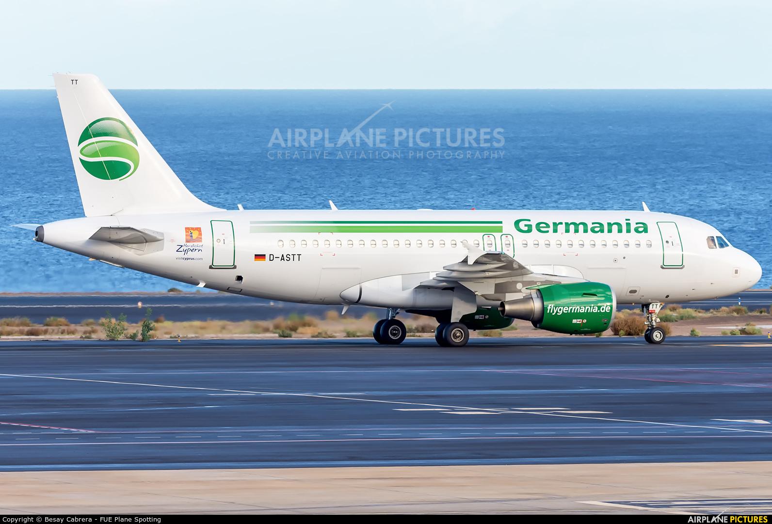 Germania D-ASTT aircraft at Fuerteventura - Puerto del Rosario