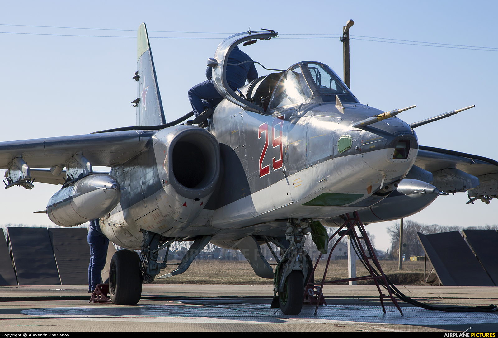 Russia - Air Force 29 aircraft at Primorsko-Akhtarsk