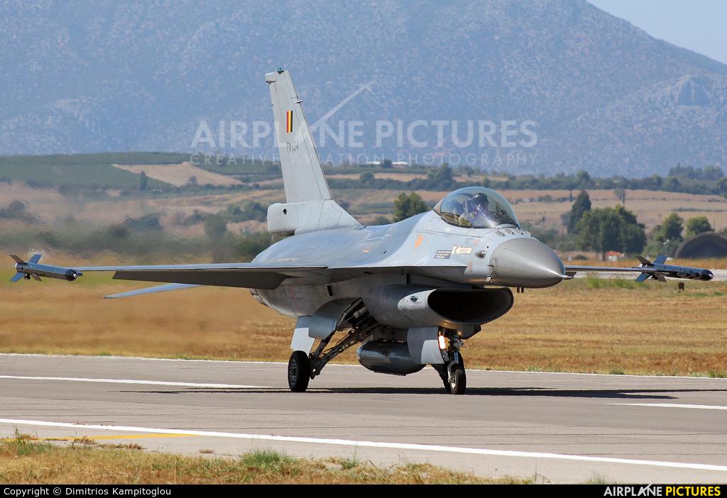 Belgium - Air Force FA-134 aircraft at Tanagra
