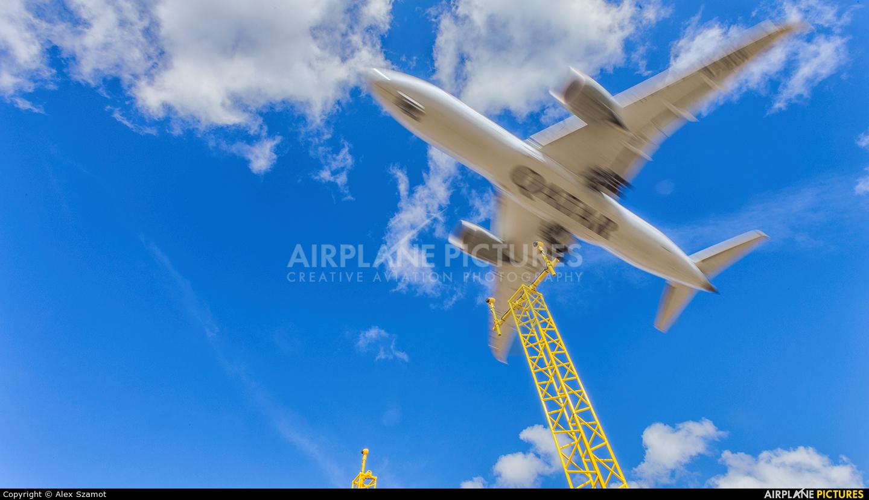 Qatar Airways A7-BCW aircraft at Edinburgh