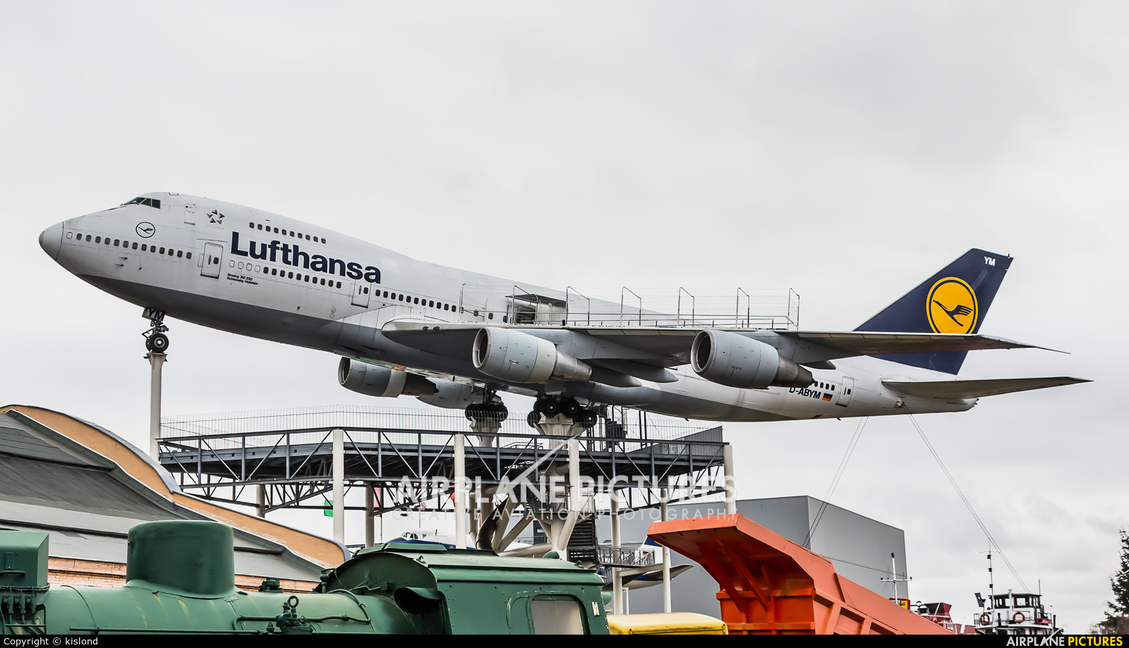 Lufthansa D-ABYM aircraft at Speyer, Technikmuseum