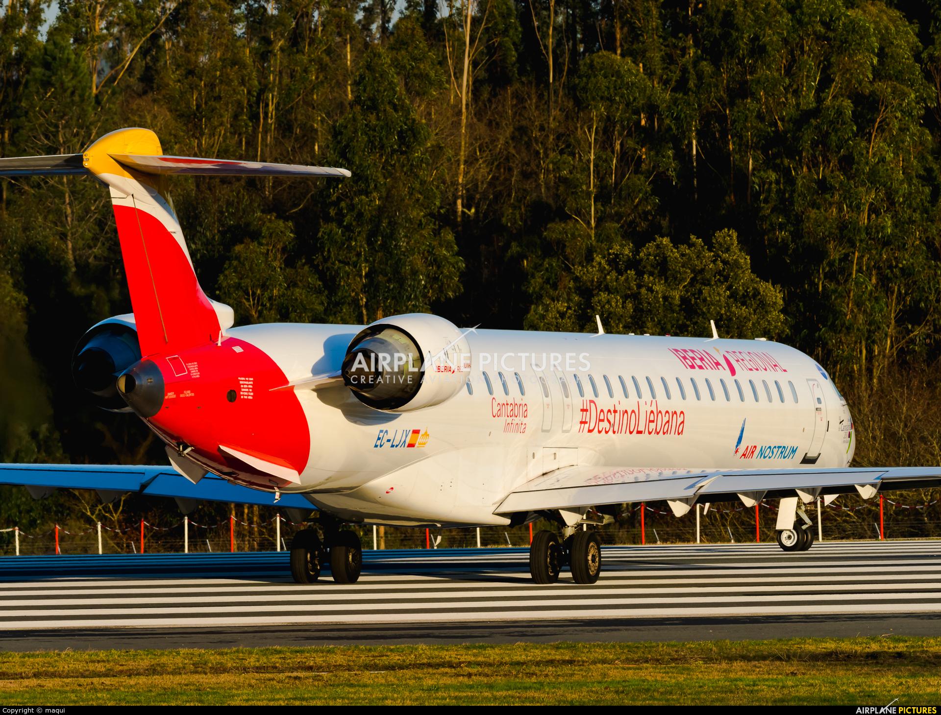 Air Nostrum - Iberia Regional EC-LJX aircraft at Santiago de Compostela