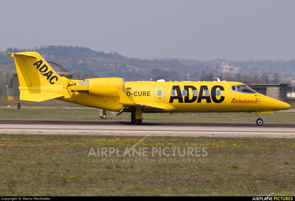 ADAC Luftrettung D-CURE aircraft at Verona - Villafranca