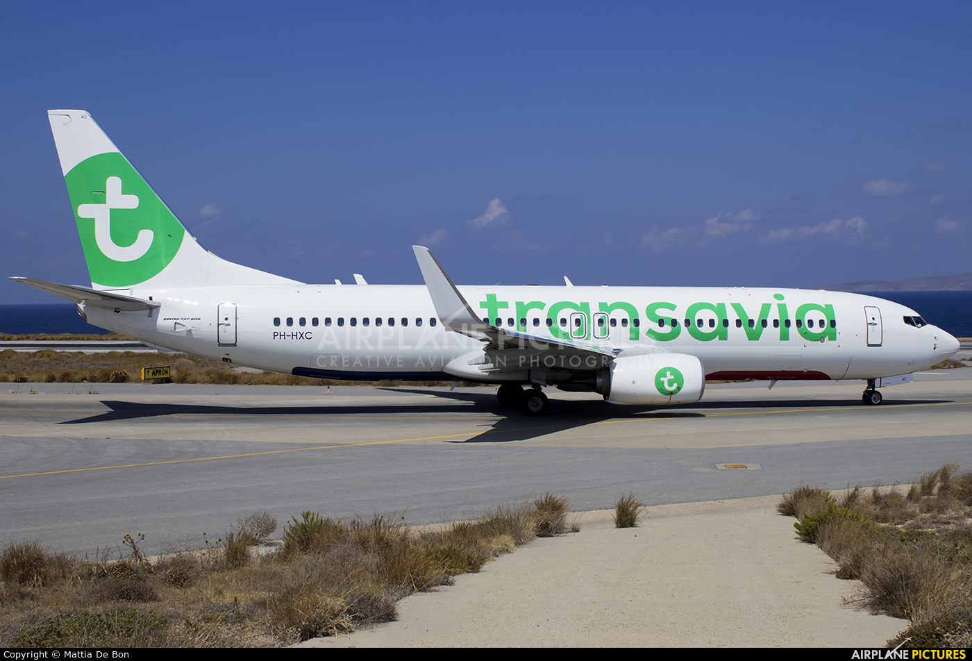 Transavia PH-HXC aircraft at Heraklion - Nikos Kazantzakis