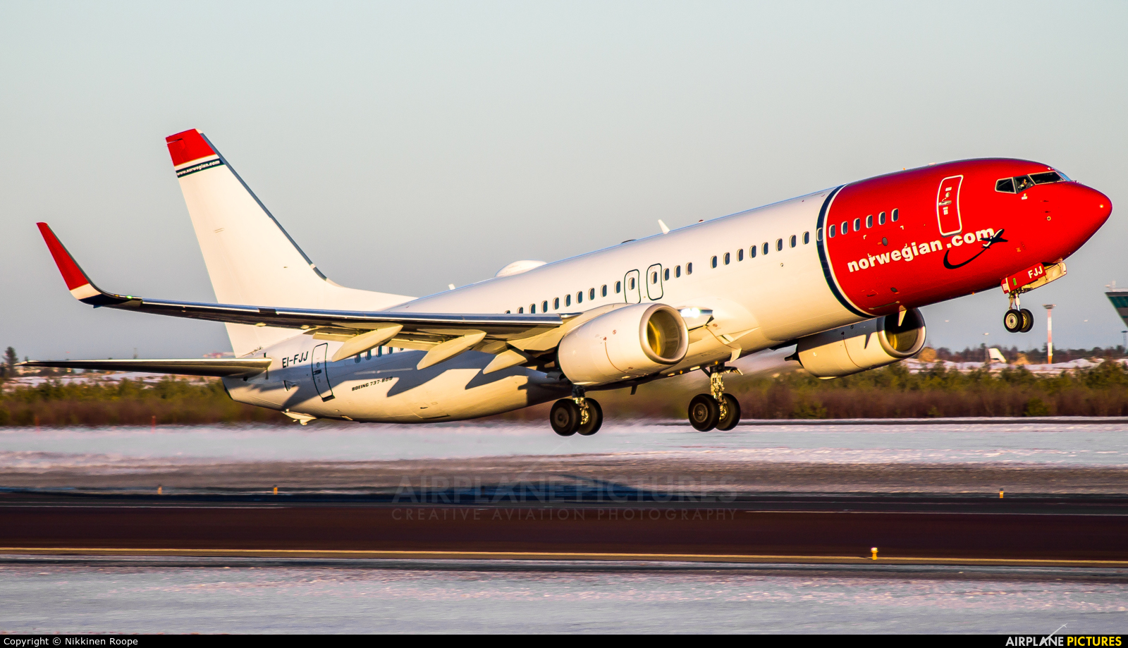 Norwegian Air Shuttle EI-FJJ aircraft at Helsinki - Vantaa
