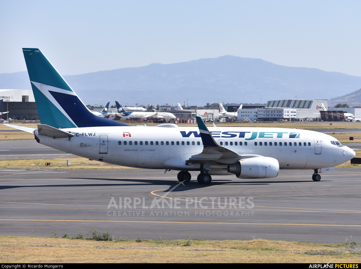 WestJet Airlines C-FLWJ aircraft at Mexico City - Licenciado Benito Juarez Intl