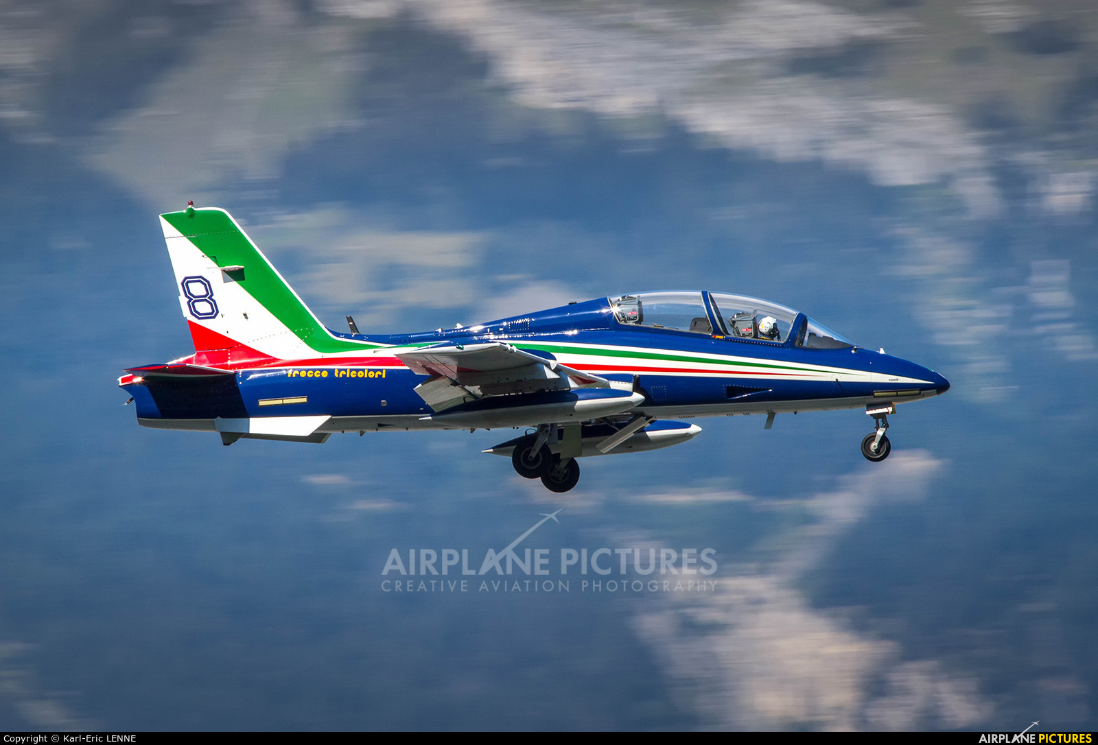 "Italy - Air Force ""Frecce Tricolori"" MM55059 aircraft at Sion"