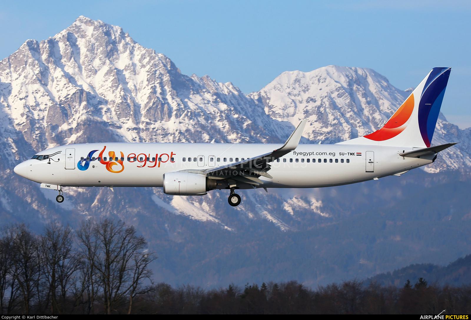 FlyEgypt SU-TMK aircraft at Salzburg
